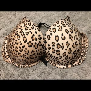 VS Leopard Print Push Ip Bra